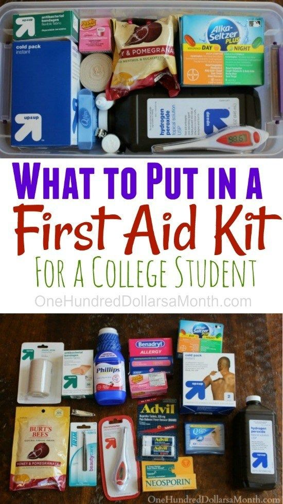 DIY First Assist Package for School College students