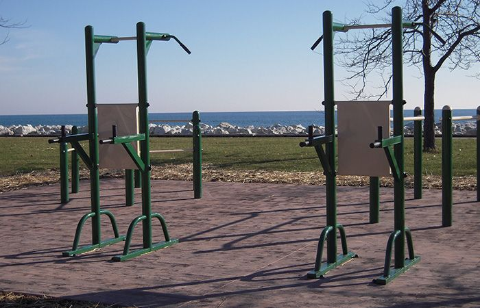 Outdoor Pull Up Amp Dip Station Exercise With A View