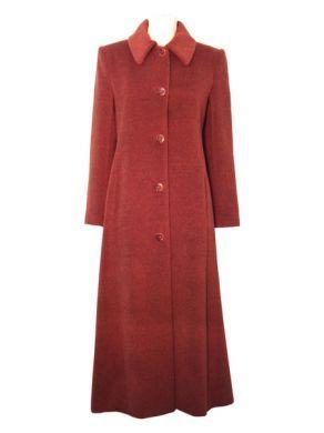 Extra lange damen mantel