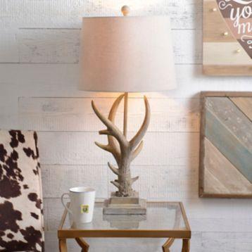Natural Antler Table Lamp