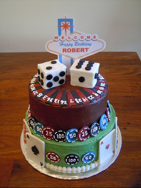 Vegas Roulette Gambling Cards Dice Cake By Michelle Www