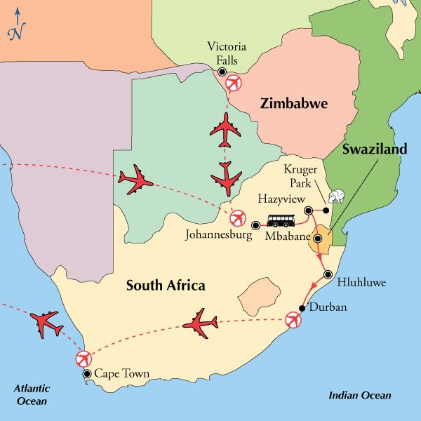 15 Day Classic South Africa & Victoria Falls,South Africa Tour, African Safari - Virgin Vacations
