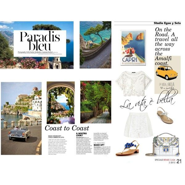 Coast to Coast by ljdia on Polyvore featuring polyvore fashion style TIBI J. Mendel Dolce&Gabbana contemporary
