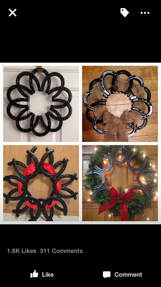 Horseshoe wreaths