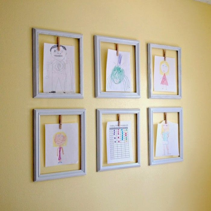 Cheap Frames From The Craft Store And Imagination: Creative Ways To Display Your Childrens Artwork