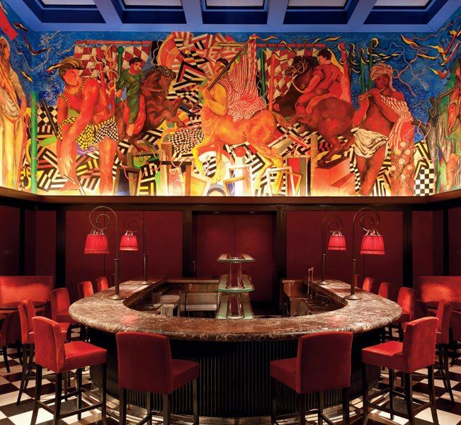 palio bar the book murals of new york city looks at important pub. Black Bedroom Furniture Sets. Home Design Ideas