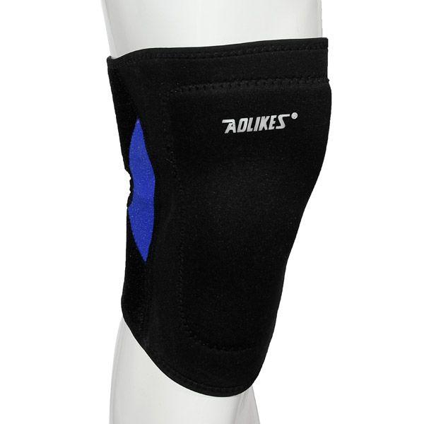 Al aire libre de escalada deportiva de compresión de la rodilla corsé almohadilla antideslizante protector de la rodilla ajustable