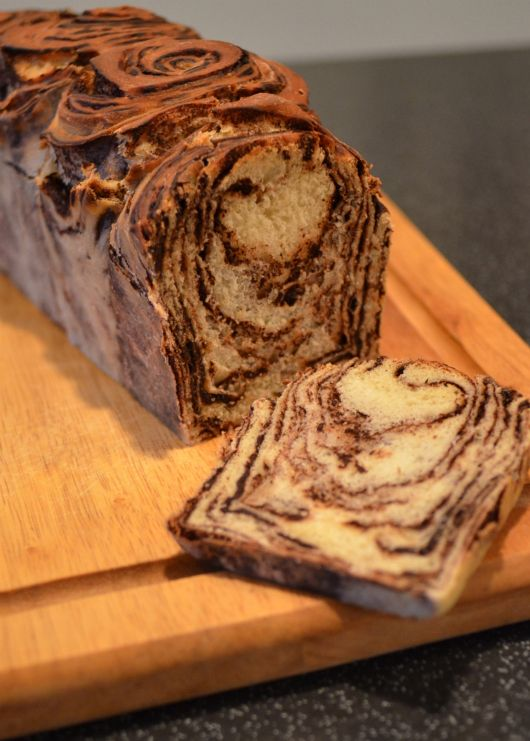 Japanese Chocolate Marble Bread