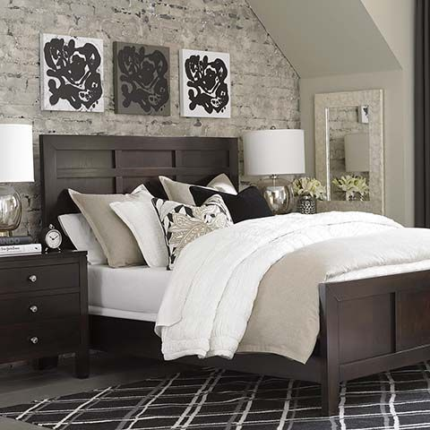 We bought this bed! :)  California King!  Now we need a mattress, box spring, and bedding...
