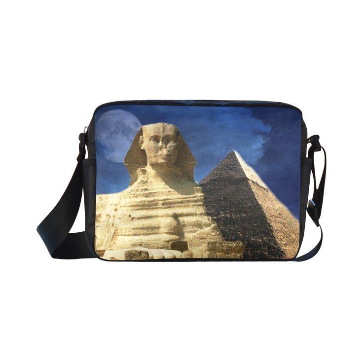 Sphinx and Pyramid Classic Cross-body Nylon Bag. FREE Shipping. #artsadd #bags #egypt