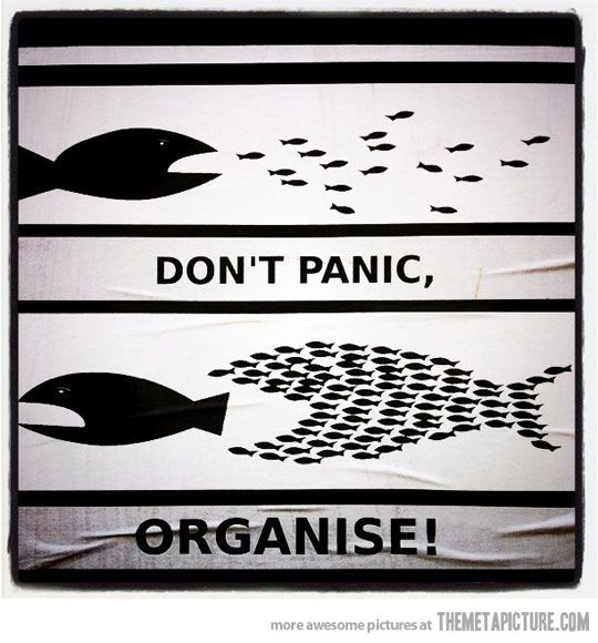 Don't panic - organise. How true is this. Small acts of leadership acting in concert = success!