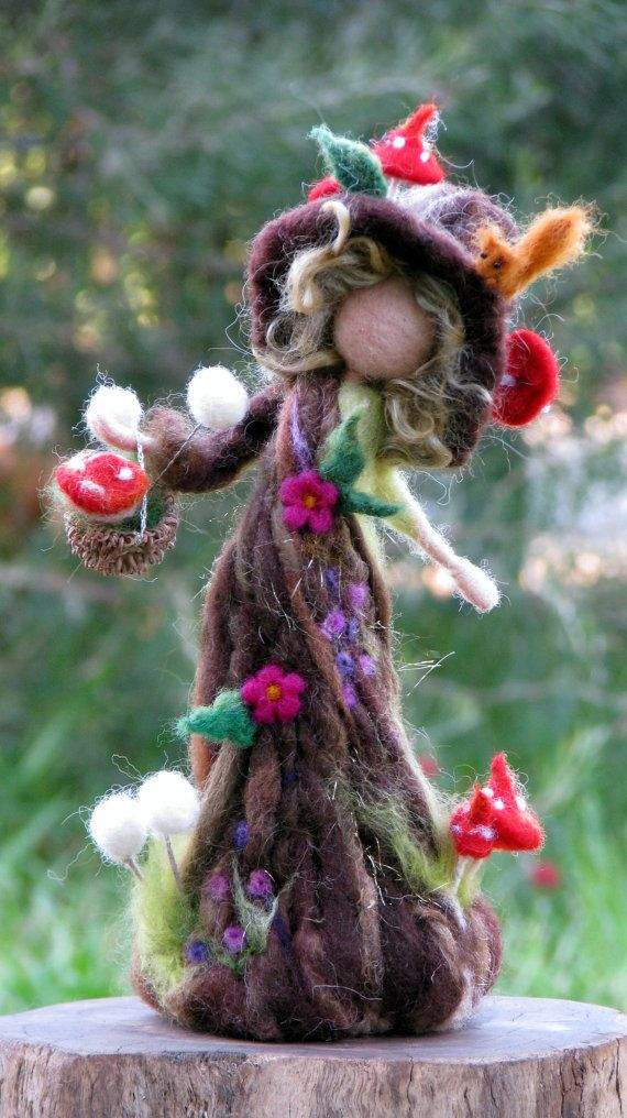 Needle felted tree guardian waldorf inspired art by Made4uByMagic