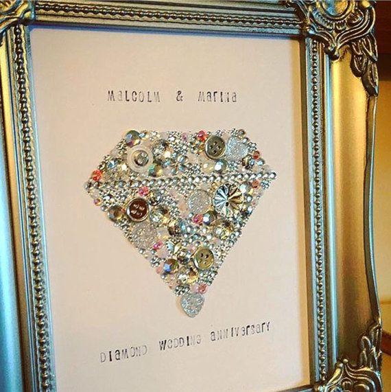 Anniversary Gift Wall Art Decoration Wedding by Theshabbychicgeek