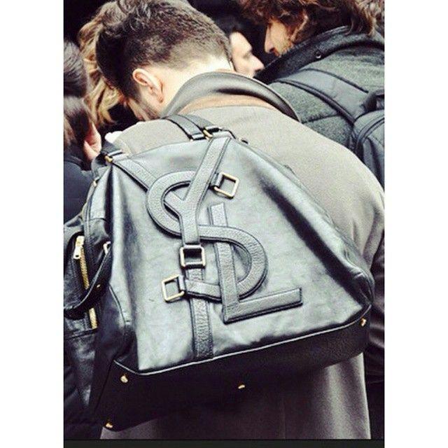 No.22 A really cool #YSL bag. | 100 BLACK HANDBAGS | Pinterest | Bags