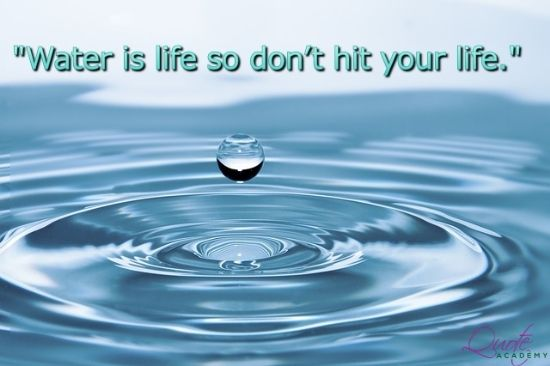 Save Water Slogans and Quotes with Poster - For More Check Out http://www.quoteacademy.com/save-water-slogans-quotes