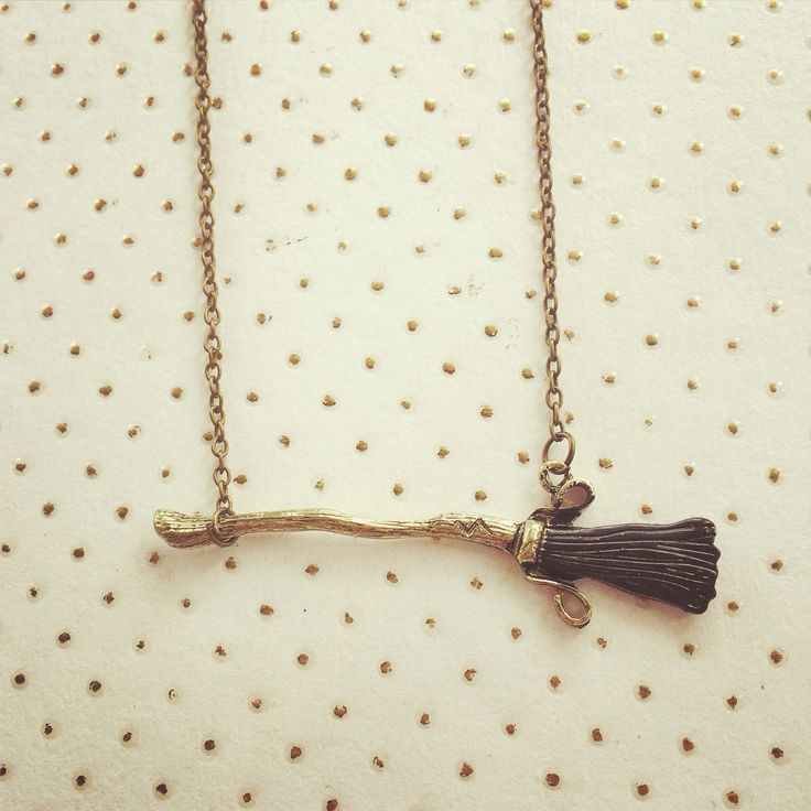 "Broomstick Quidditch Necklace Harry Potter Inspired Handmade SHIPS FROM USA  You will receive one handmade necklace with a flying broomstick charm. Chain measures 18"", but you may request a different length that you would prefer! Would make a neat gift for any Potter fan! Thank you for looking!"
