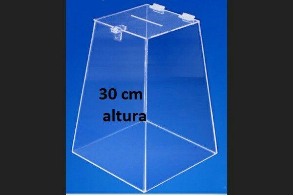Urna acrílico cristal 3 mm/30 cm altura.