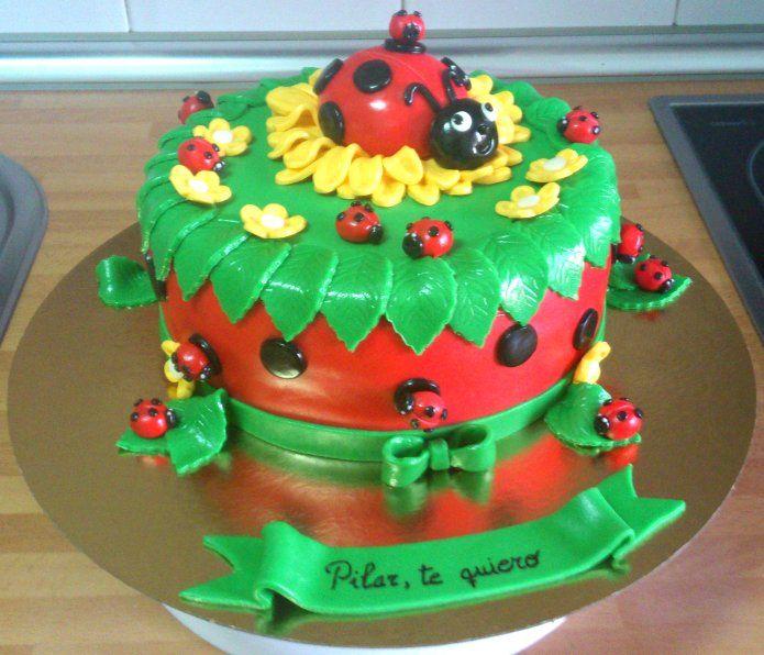 Mariquitas en una tarta