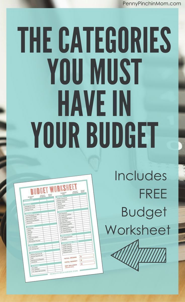 does your budget have all of these categories pinterest