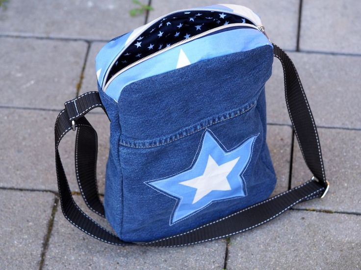 Upcycling Jeanstasche