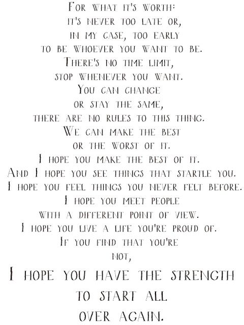 I hope you see things ...F Scott Fitzgerald Quotes For What Its Worth