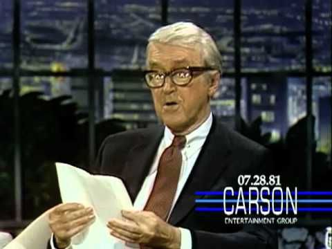 Jimmy Stewart makes Johnny Carson cry with a poem about his dog.  Brings me to tears everytime!
