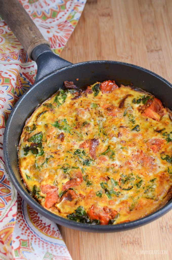 This syn free bacon, kale and sweet potato frittata is the perfect meal to start your day. Lots of speed foods and plenty of protein