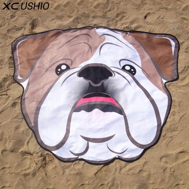 Better Deal $15.91, Buy XC USHIO One Piece Soft Microfiber 155*125cm Creative Cute Dog Beach Towel Beach Scarf Bikini Cover Up Yoga Mat Wall Tapestry