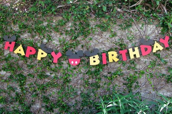 Mickey Mouse Happy Birthday Banner - LOVE!!!