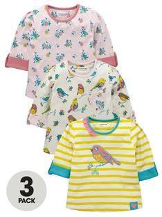 ladybird-toddler-girls-long-sleeved-birdfloral-tops-3-pack