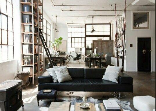 Layout lounge loft window dividing spaces