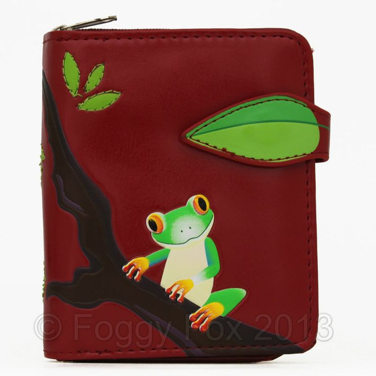 Shagwear Tree Frog small red wallet