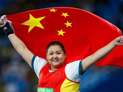 China's Wang Breaks World Record To Clinch Shot Put F35 Gold