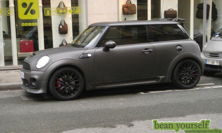Paris matte black mini cooper jcw edition mini cooper for Garage mini paris