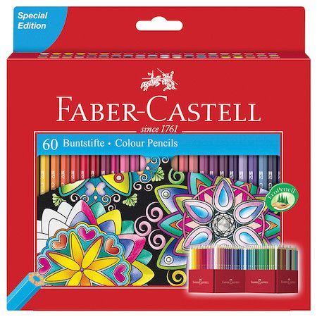 Faber Castell Classic Colour Pencils Set Of 60 Materiais