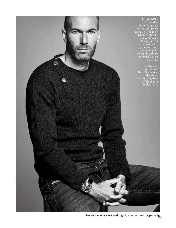 Zinedine Zidane at Vogue (and for Mango) | following Real Madrid...
