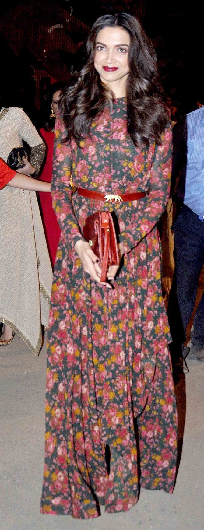 Deepika Padukone in Sabyasachi Mukherjee  at the Lakme Fashion Week Summer/Resort 2015 curtain raiser.
