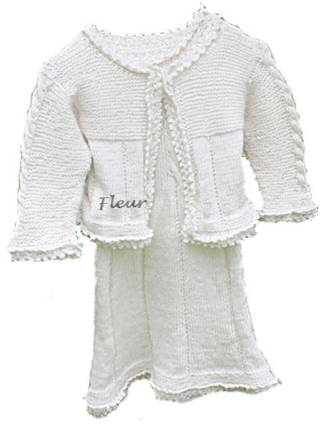 Fleur kjole og jakke str 3 til 4 år - Chris-Ho.com