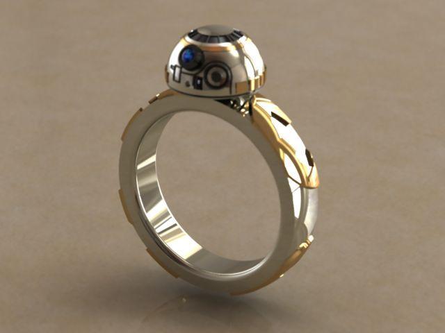 BB-8 ring #StarWars #bb-8 #spherobb8 #bb8 #starwars #friki