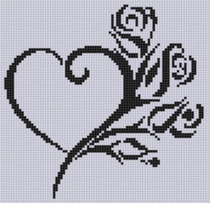 Heart Roses Cross Stitch Pattern by Motherbeedesigns - Craftsy
