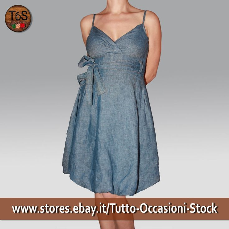 Abito donna Swish Jeans chambray con bretelle MADE IN ITALY tg. 42