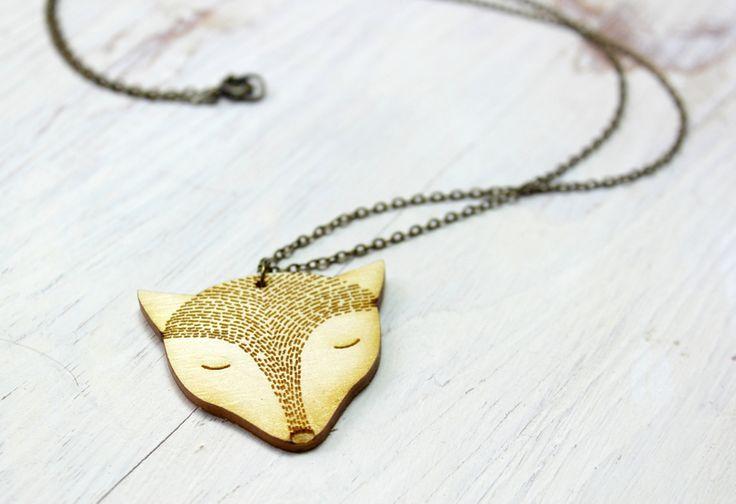 Für die Fuchsliebhaber unter Euch. Fuchskette aus Holz von golden spleen