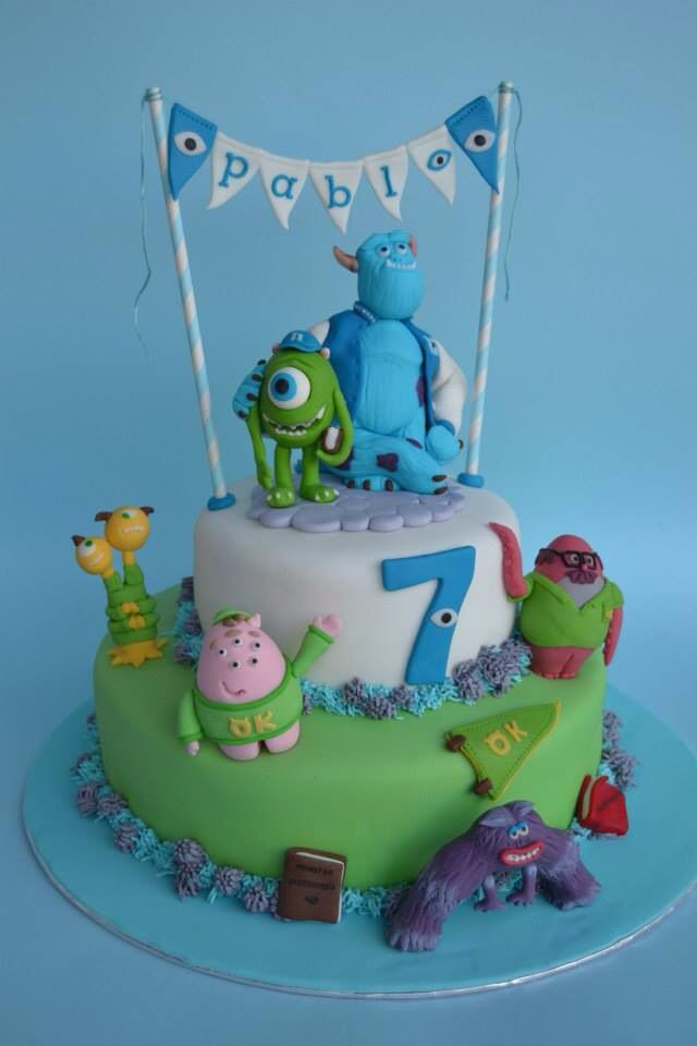 Monster's university cake - For all your cake decorating supplies, please visit craftcompany.co.uk