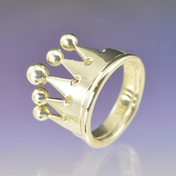 So cool for Jubilee memento! The Crown Ring by chrisparry on Etsy, £160.00