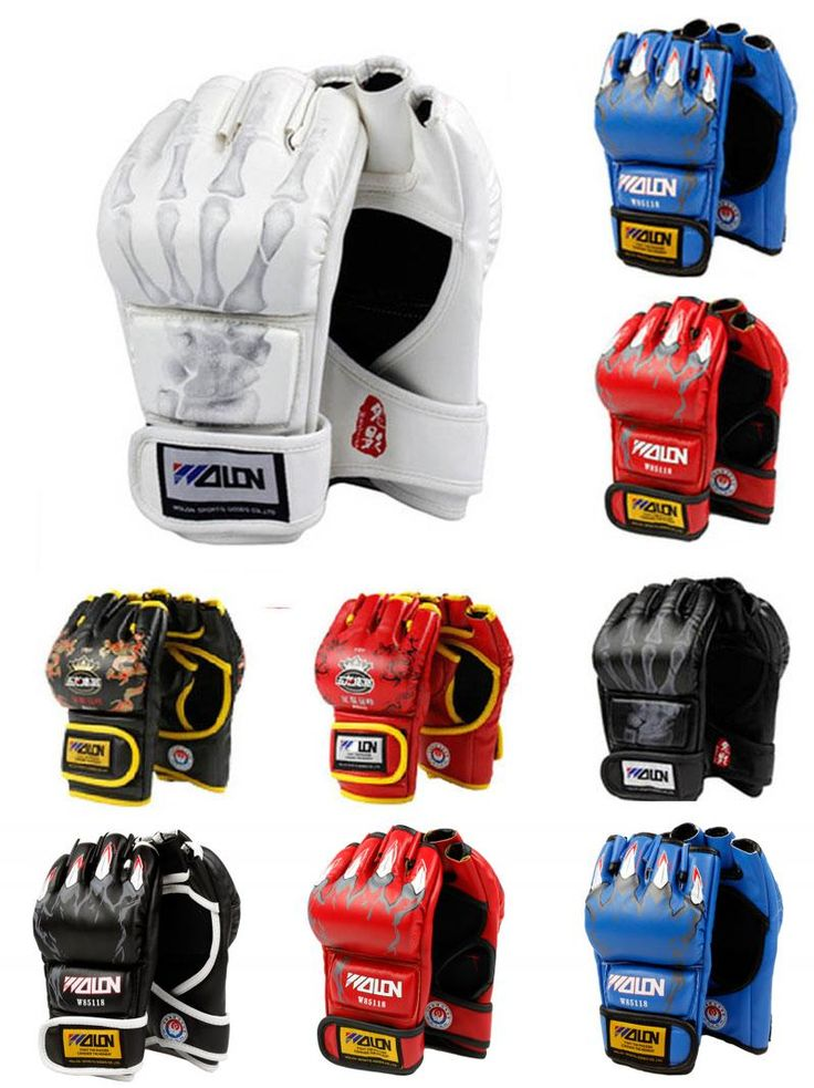 [Visit to Buy] MMA Muay Thai Kick Boxing Gloves Half Fighting Boxing Gloves Competition Training Gloves guantes de boxeo #Advertisement