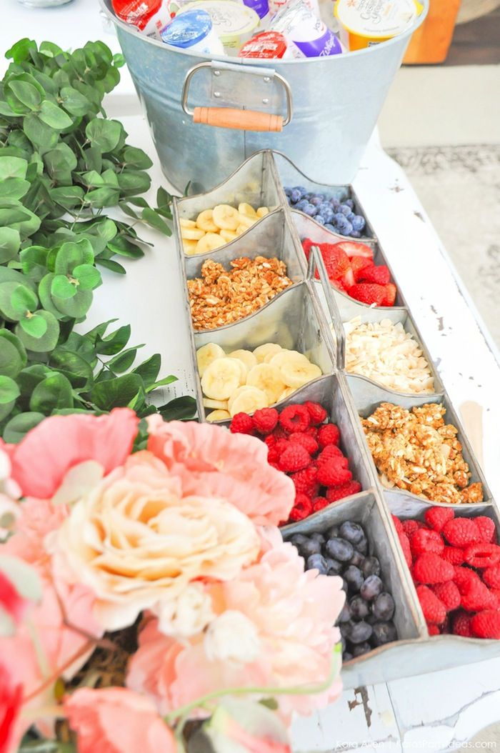 "DIY ""Love""ly Yoplait Yogurt Bar styled by Kara's Party Ideas"