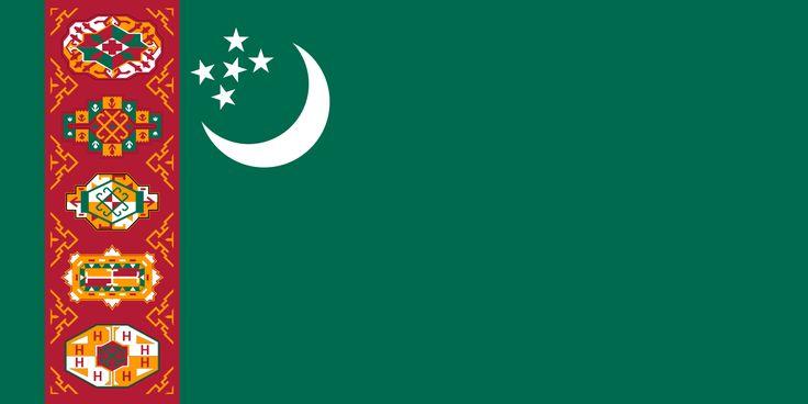 Flag of Turkmenistan (1992-1997) - Drapeau du Turkménistan — Wikipédia