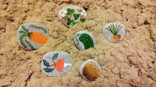 #kids crafts #ka-var-dak #kavardak #play with kids #vegetables #sand #play with sand