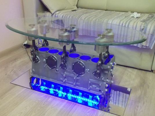 4 top gear engine coffee table automotive pinterest. Black Bedroom Furniture Sets. Home Design Ideas