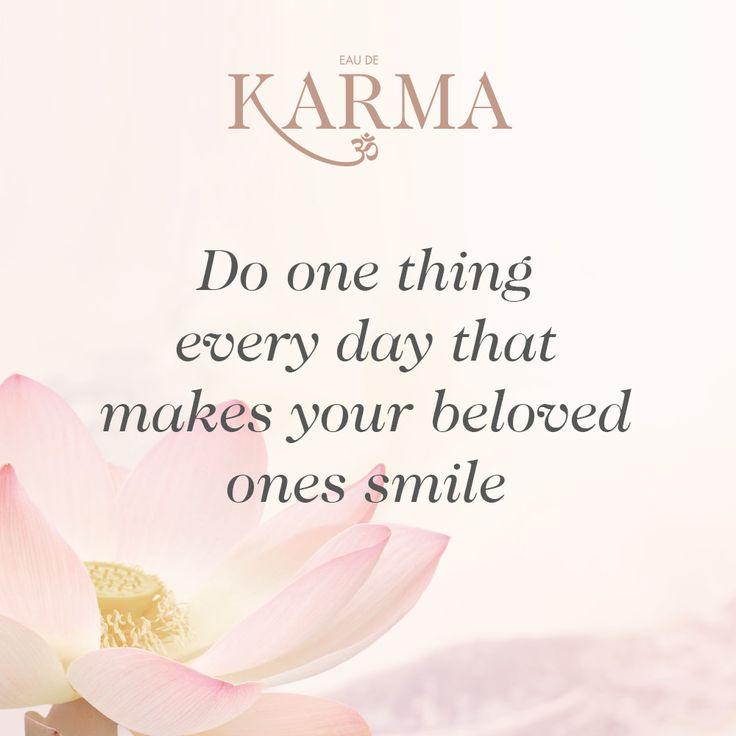 Be the reason someone smiles today. #EauDeKarma #THOMASSABO //  Inspirational quotes // #writethisdown
